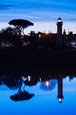 Silhouette Of Old Port Lighthouse Art Print by Panoramic Images