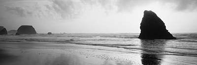 Romantic Location Photograph - Silhouette Of Rocks On The Beach, Fort by Panoramic Images