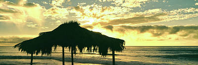 Shack Photograph - Silhouette Of Shack On The Beach by Panoramic Images
