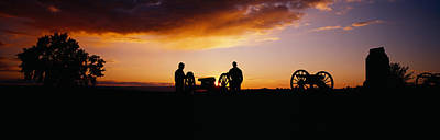 Silhouette Of Statues Of Soldiers Art Print by Panoramic Images