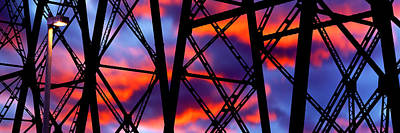 Gaviota Photograph - Silhouette Of The Trestles Of A Railway by Panoramic Images