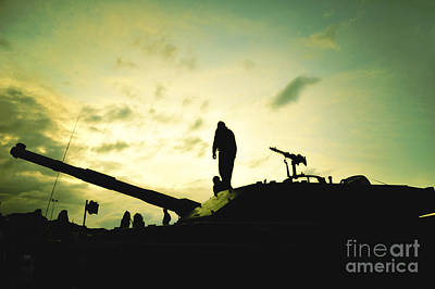 Silhouette Of War  Art Print
