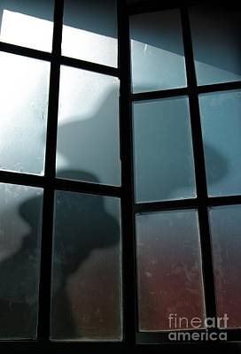 Photograph - Silhouette On Window by Carlos Caetano