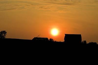 Photograph - Silhouette Sunrise by Bonfire Photography