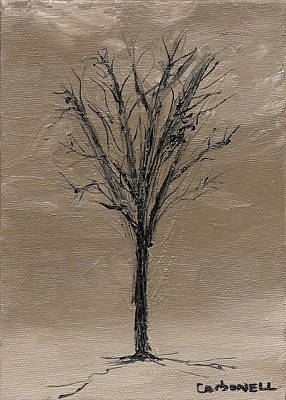 Painting - Silhouette Tree by Rick Carbonell
