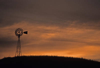 Photograph - Silhouette Windmill by Doug Davidson