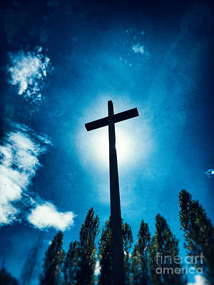 Photograph - Silhouetted Cross by Silvia Ganora