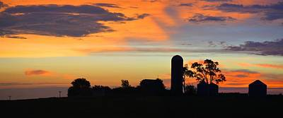 Photograph - Silhouetted Farm  by Bonfire Photography