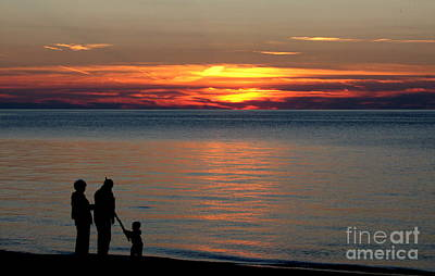 Photograph - Silhouetted In Sunset At Sturgeon Point Marina by Rose Santuci-Sofranko