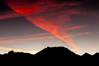 Mountain Royalty-Free and Rights-Managed Images - Silhouetted Mountains at Sunset by Andrew Soundarajan