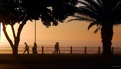 Silhouettes Along The Promenade 1 Original by Michael Durst