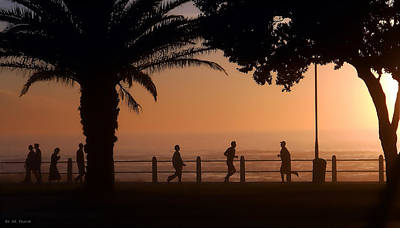Silhouettes Along The Promenade 2 Original by Michael Durst