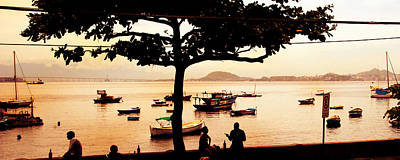 Photograph - Silhouettes Of People And Boats In Rio De Janeiro by Celso Diniz