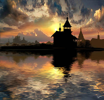 Photograph - Silhouettes Of The Christianity by Igor Zenin