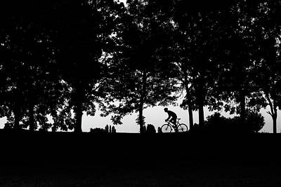 Hobbies And Collections - Art And Photograph - Silhoutte Black And White Image by James Silverthorne