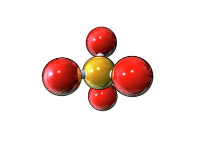 Atom Photograph - Silicon Dioxide by Animate4.com/science Photo Libary