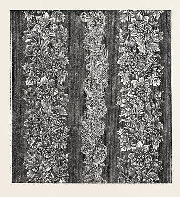 Damask Drawing - Silk Damask by Houldsworth And Co., Manchester, Uk