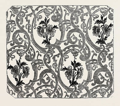Damask Drawing - Silk Damask by Houldsworth, Manchester, English, 19th Century