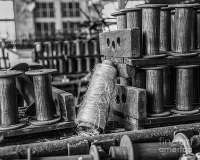 Bobbins Photograph - Silk Factory Still Life by Terry Rowe