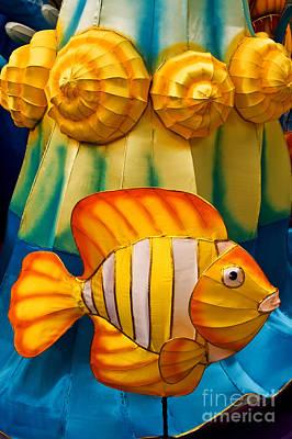 Photograph - Silk Fish Lantern by Rick Piper Photography
