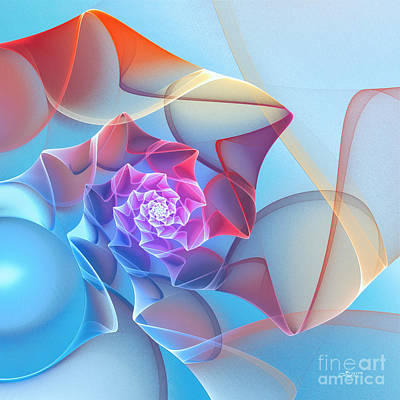 Digital Art - Silk Flower by Jutta Maria Pusl