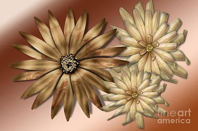 Silk Flowers Art Print by Tina M Wenger