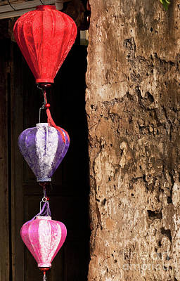 Photograph - Silk Lanterns 01 by Rick Piper Photography