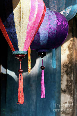 Photograph - Silk Lanterns 02 by Rick Piper Photography