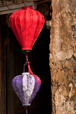 Photograph - Silk Lanterns 03 by Rick Piper Photography