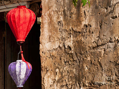 Photograph - Silk Lanterns 04 by Rick Piper Photography