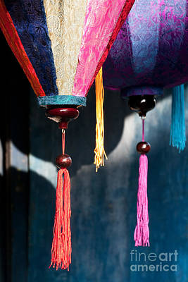 Photograph - Silk Lanterns 05 by Rick Piper Photography