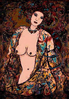 Lingerie Mixed Media - Silk Lingerie by Natalie Holland