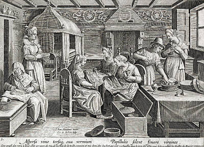 Silk Making, 16th Century Art Print by Folger Shakespeare Library