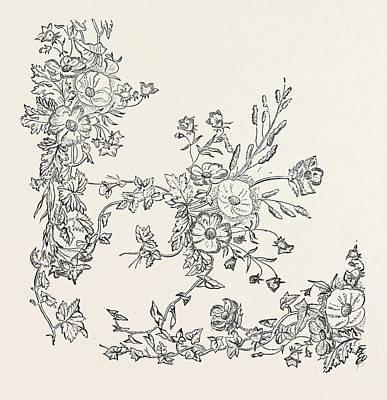 Silk Pattern. 1851 Art Print