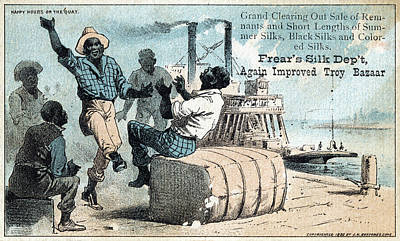 Bales Painting - Silk Trade Card, C1880 by Granger