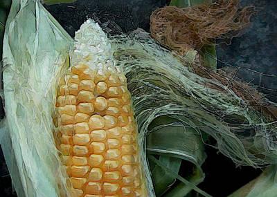 Corn Painting - Silken Ear by Elaine Plesser