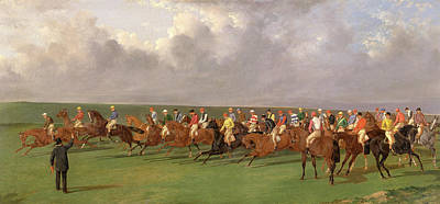Silks And Satins Of The Turf Signed And Dated Print by Litz Collection