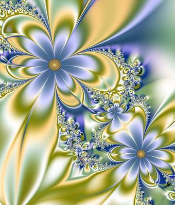Digital Art - Silky Flowers by Svetlana Nikolova