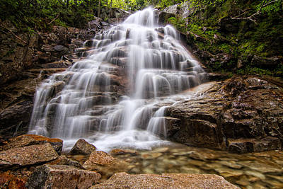 Photograph - Silky Veil Cloudland Falls Lincoln Nh by Jeff Sinon