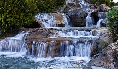 Photograph - Silky Waterfalls With Bubble Fine Art Photograph by Jerry Cowart