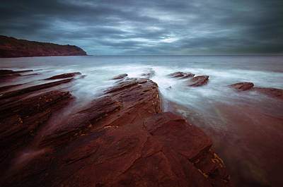 Photograph - Silky Wave And Ancient Rock 2 by Afrison Ma