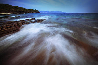 Photograph - Silky Wave And Ancient Rock 4 by Afrison Ma