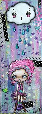 Oddball Art Mixed Media - Sillie Smilie Showers by Oddball Art Co by Lizzy Love