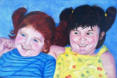 Painting - Silly Girls by Vikki Angel