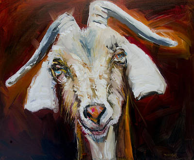 Painting - Silly Goat by Diane Whitehead