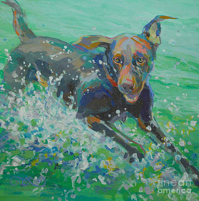Chocolate Lab Painting - Silly Goose by Kimberly Santini