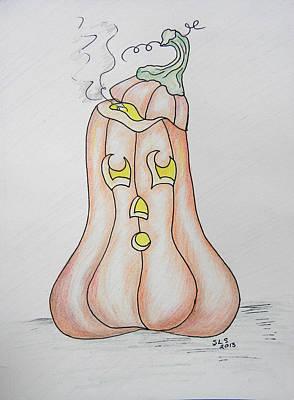 Silly Jack O Lantern Art Print by Sheri Lauren Schmidt