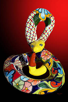 Silly Snake Print by Phyllis Denton