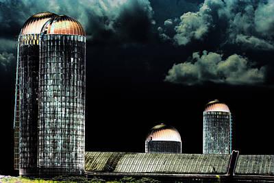 Shed Digital Art - Silo 2 Solarized Art by Lesa Fine