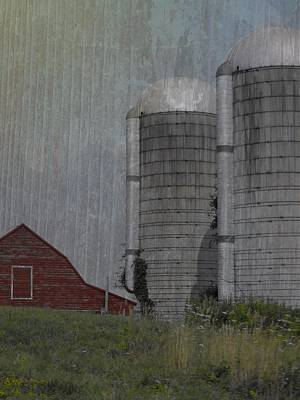 Silo And Barn Art Print by Photographic Arts And Design Studio